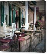 A Porch On The Bay Canvas Print