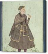 A Portrait Of A Deccani Nobleman Canvas Print