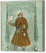 A Portrait Of A Nobleman Holding A Falcon Canvas Print