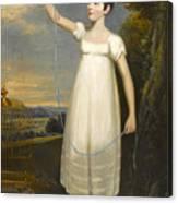 A Portrait Of Ellen Smith Of Nottingham Canvas Print