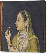A Portrait Of Jahanara Begum Canvas Print