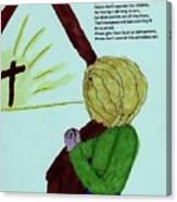 A Prayer Canvas Print