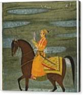 A Prince Riding In A Landscape Canvas Print