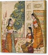 A Princess With Her Maidservants On A Terrace Canvas Print