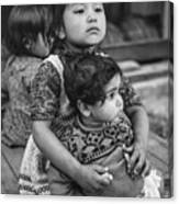 A Proud Sister Bw Canvas Print