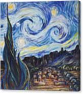 A Pueblo Starry Night Canvas Print