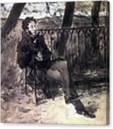 A Pushkin On A Garden Bench 1899 Valentin Serov Canvas Print