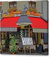 A Quaint Restaurant In Paris, France Canvas Print