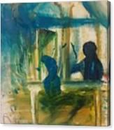 A Quiet Conversation Canvas Print