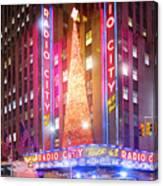 A Radio City Music Hall Christmas Canvas Print