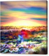 A Rainbow Paisley Sunrise V.2 Canvas Print