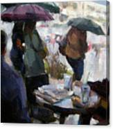 A Rainy Day At Starbucks Canvas Print