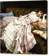 A Reclining Beauty Canvas Print