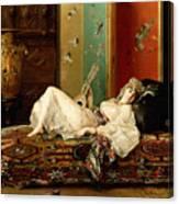 A Reclining Odalisque Canvas Print