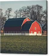 A Red Barn Canvas Print