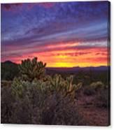 A Red Hot Desert Sunset Canvas Print