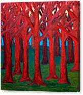 A Red Wood - SOLD Canvas Print