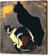 A Replica Of The Cats By Theophile Alexandre Steinlen Canvas Print