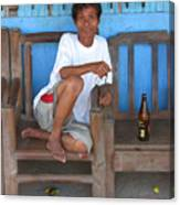 A Rest And A Beer Canvas Print
