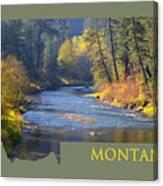 A River Runs Thru Autumn Canvas Print