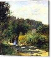 A Road In Louveciennes Canvas Print