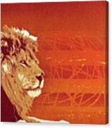 A Roaring Lion Kills No Game Canvas Print