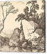 A Rocky Pond Canvas Print