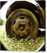 A Rolling Tire Gathers No Moss Canvas Print