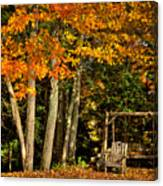 A Romantic Autumn Spot In Inlet Canvas Print