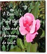 A Rose Is Proof Canvas Print