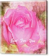 Enjoy A Rose Just For You Canvas Print
