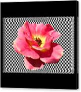 A Rose With A Checkered Background Canvas Print