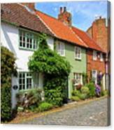 A Row Of Cottages Canvas Print