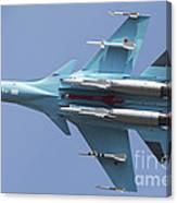 A Russian Air Force Su-34 In Flight Canvas Print