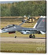 A Russian Navy Su-30sm Aircraft Canvas Print