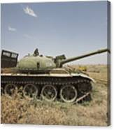 A Russian T-62 Main Battle Tank Rests Canvas Print