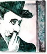 A Sad Portrait of Chaplin Canvas Print