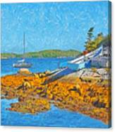 A Sailboat Near Halifax Nova Scotia Canvas Print