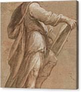 A Saint Holding A Book Canvas Print