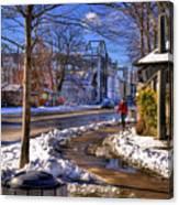 A Sandpoint Winter Canvas Print
