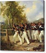 A Scene From The Soldier's Life Canvas Print