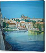 A Scene In Prague 3 Canvas Print