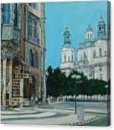 A Scene In Prague Canvas Print