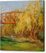 A Secret Little Red Bridge Canvas Print