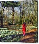 A Selfie In Snowdrop Wood Canvas Print