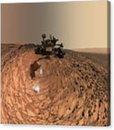 A Selfie On Mars Canvas Print
