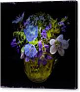 A Shot Of Springtime Wildflowers Canvas Print