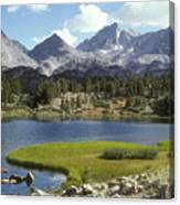 A Sierra Mountain Lake In Summer Canvas Print