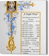 A Simple Prayer Canvas Print