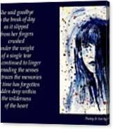 A Single Tear - Poetry In Art Canvas Print